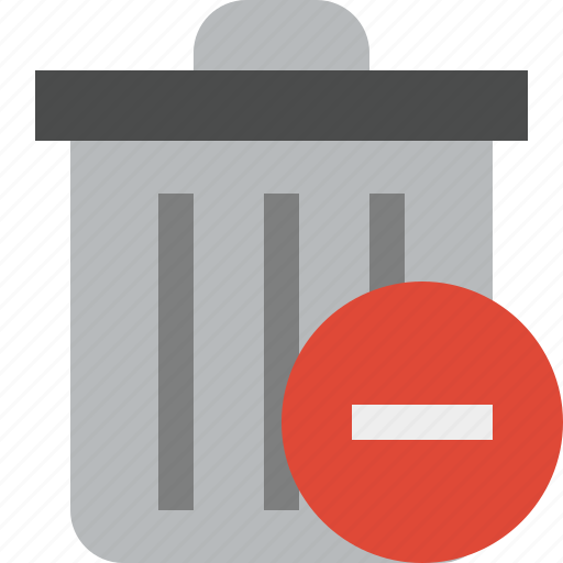 delete, garbage, remove, stop, trash icon