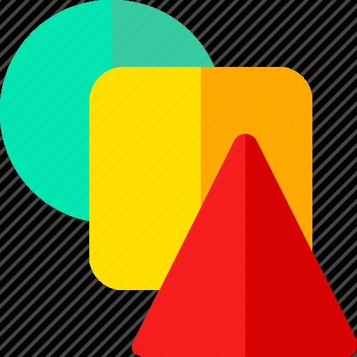 circle, shape, square, triangle icon