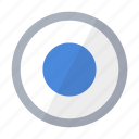 circle button, color, control, option icon