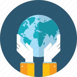 earth, ecology, flat design, global, guardar, hand, people, save icon