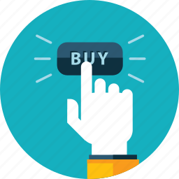 e-commerce, flat design, hand, order, people, round, shopping icon