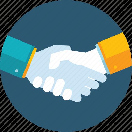 business, flat design, hand, handling, partnership, people, team icon
