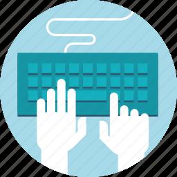 coding, devepolement, flat design, hand, internet, poeple, website icon