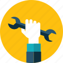 hand, maintenance, people, service, setting, support icon