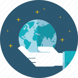 business, environment, flat design, global, hand, location, people icon