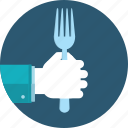 cuisine, flat design, food, hand, menu, people, restaurant icon