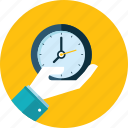 clock, event, flat design, hand, people, schedule, time icon