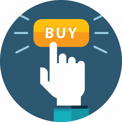 buy, e-commerce, flat design, hand, people, shopping, web button icon