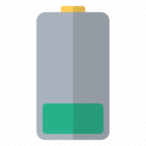 battery, charge, electricity, hardware, one, power, quarter icon