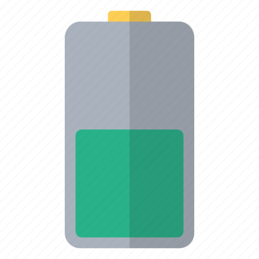 battery, charge, electricity, fifty, hardware, percent, power icon