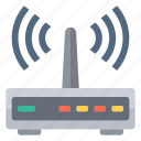 connection, hardware, network, router, signal, wifi, wireless icon