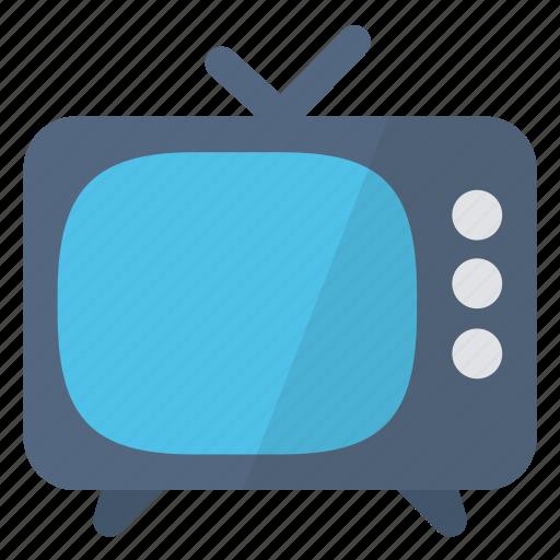 hardware, network, post, retro, television, tv, vintage icon