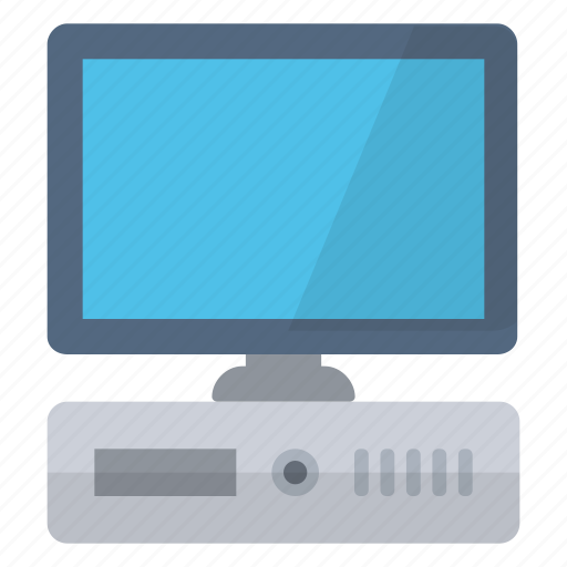 central unity, computer, hardware, monitor, network, workstation icon
