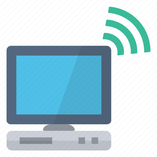 computer, connected, green, hardware, network, successful, wireless icon
