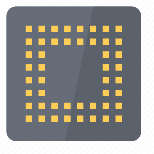 back, component, cpu, electronics, hardware, processor, unit icon