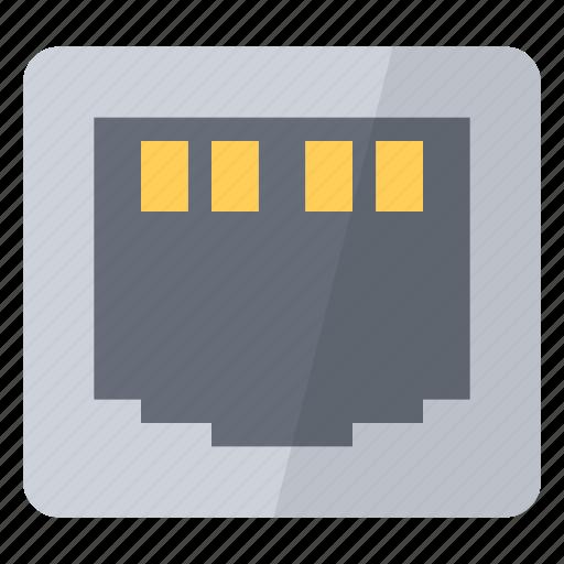 connection, ethernet, hardware, internet, network, plug, port icon