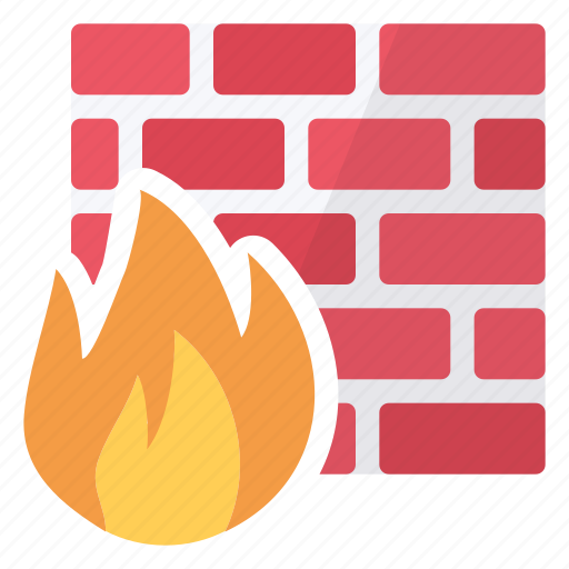 active, fire, firewall, flame, hardware, network, protection icon