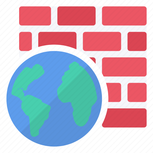 active, firewall, hardware, internet, network, protection icon