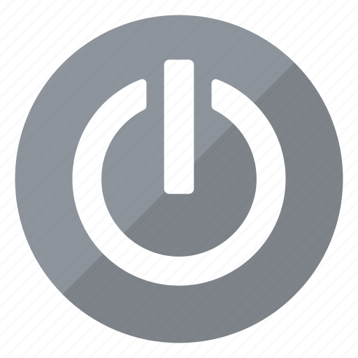 circle, gray, hardware, off, on, switch icon