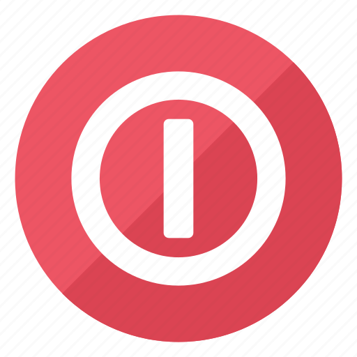 circle, hardware, network, off, on, push, switch icon