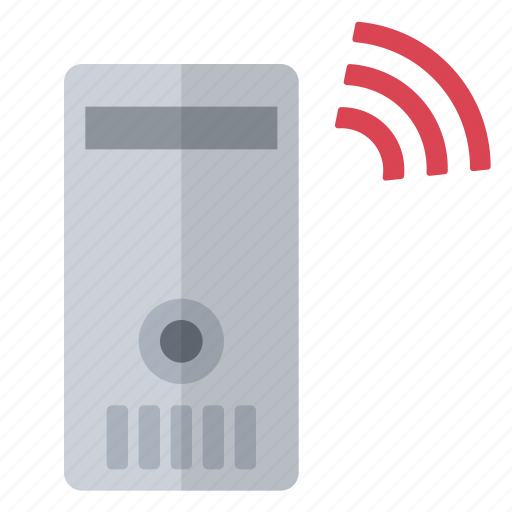 data, hardware, network, not connected, red, server, wireless icon