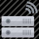 data, hardware, information, network, signal, storage, wireless icon