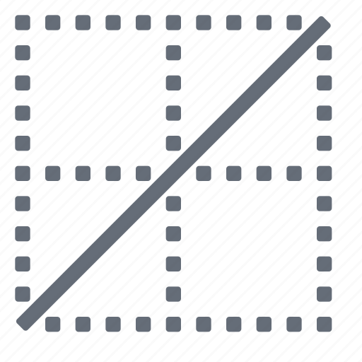 border, cell, diagonal2 icon
