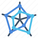 chart, dots, radar icon