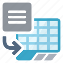 import, spreadsheet, text icon