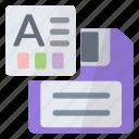 save, spreadsheet, theme icon