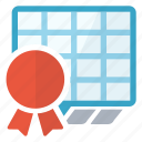 certificate, sheet, spreadsheet icon
