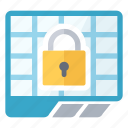 locked, sheet, spreadsheet icon