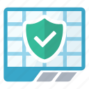 protected, sheet, spreadsheet icon