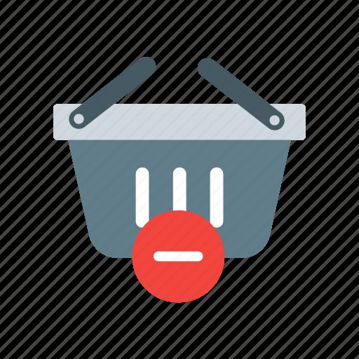 basket, buy, cart, ecommerce, icon, minus, online, shop, shopping icon