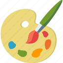 art, creativity, paint brush, palette icon