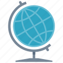 earth, education, geography, globe, learning, map, planet, school, study icon