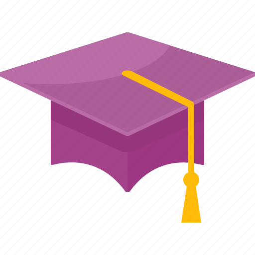 graduation, mortar board, school icon