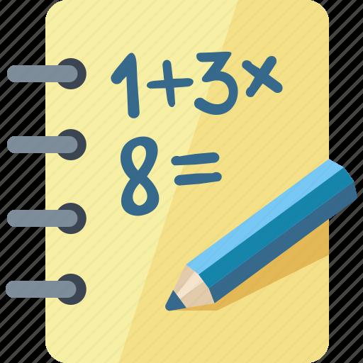 education, math, mathematics, school icon