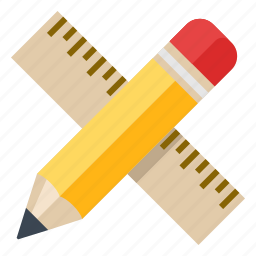 drawing, education, math, mathematics, measure, pencil, ruler, school, writing icon