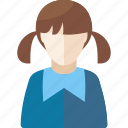 avatar, education, female, girl, learning, school, schoolgirl, student, study icon