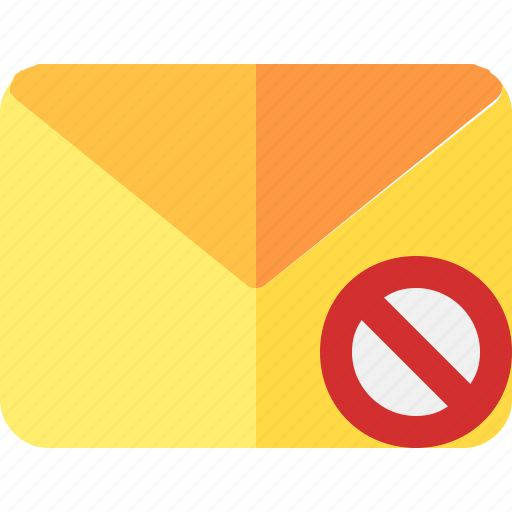 dissmiss, email, envelope, letter, mail icon