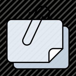 allegato, attach, attached, clip, document icon
