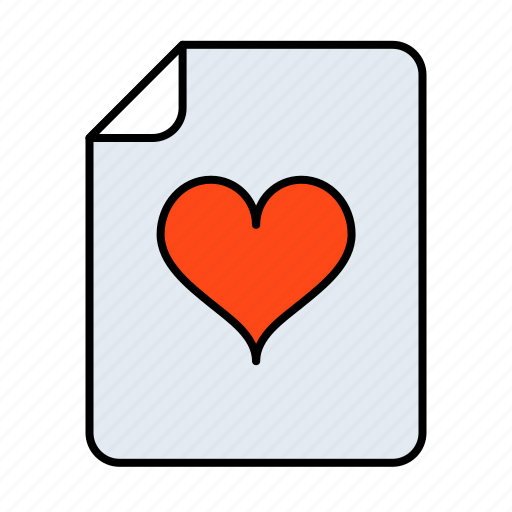 communication, cuore, document, documents, extension, fav, favorite, favorito, file, files, heart, like, love, message, office, page, paper, red, romantic, star, text, type, valentine icon
