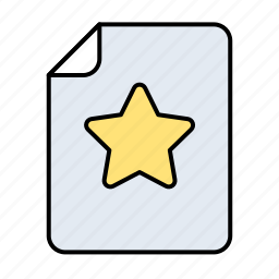 bookmark, data, document, documents, extension, fav, favorite, file, files, internet, network, page, paper, rating, star, stella, web, yellow icon