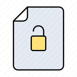 document, documents, extension, file, files, format, key, lock, paper, password, protect, protection, safe, safety, secure, security, shield, unlock icon