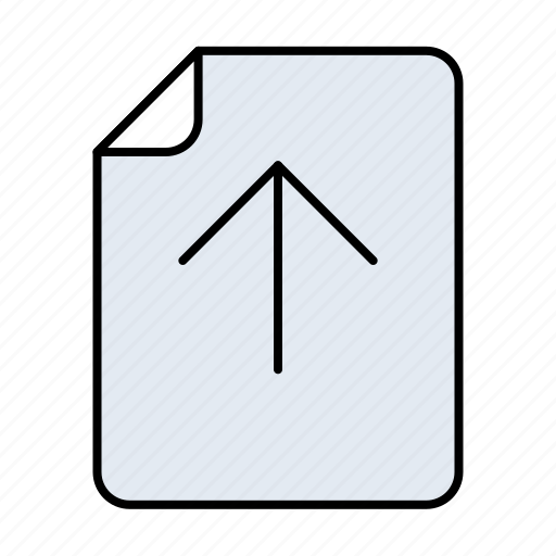 arrow, cloud, data, direction, document, documents, download, extension, file, format, page, paper, storage, up, upload icon