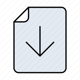 arrow, arrows, cloud, data, direction, document, documents, down, download, file, format, paper, storage, text icon