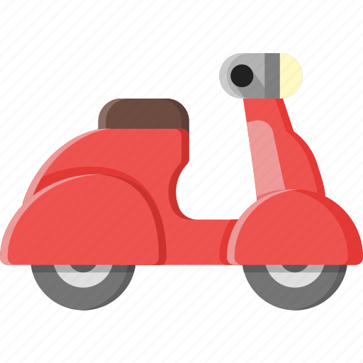 moped, motorcycle, scooter, traffic, transportation, vehicle, vespa icon