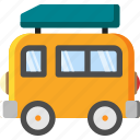 bus, car, transportation, travel, truck, vacation, van icon