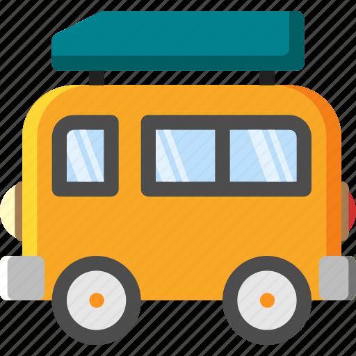 bus, car, transportation, travel, truck, vacation, van icon